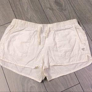 Tna shorts aritzia linen cotton white booty bootie